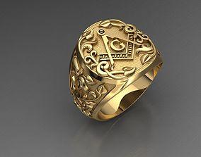 silver Mason ring model for 3D print