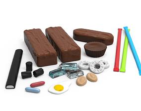 Confectionery Set 001 - 11 Different Items 3D print model