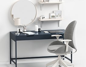 Womens dressing table and workplace 3D model