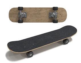Skateboard wood 3D model