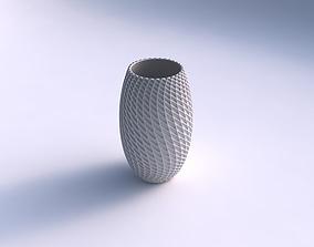 3D printable model Vase twisted with grid piramides 2