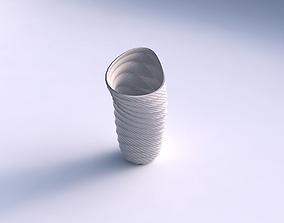 Vase vortex with twisted grid plates 3D printable model