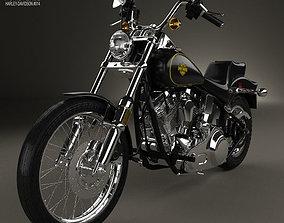 3D Harley-Davidson FXST Softail 1984