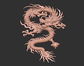 Chinese Dragon Relief 3D printable model
