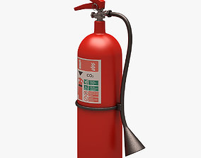 3D asset Fire Extinguisher Clean