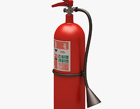 3D asset Fire Extinguisher Clean