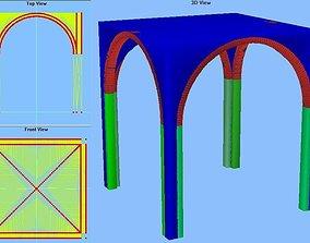Groin Vault 20x20x22 feet 3D model