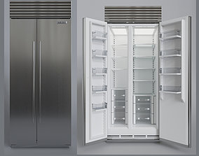 SubZero BI-36SS Refrigerator- Freezer -With Interior 3D