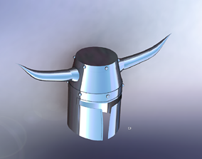 3D Medieval Viking War Helmet