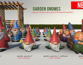 Garden Decorations 3D model game-ready