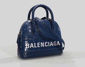 Balenciaga Ville Top Handle XXS Bag Blue 3D asset
