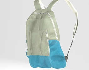 3D model low-poly Backpack