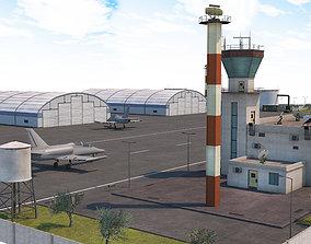 Military Airport - Scene model 3D asset
