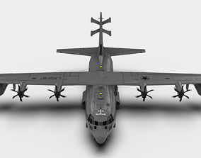 Lockheed Martin EC-130J - PsycheOps Aircraft - 3D asset