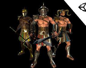 3D asset Low-poly Gladiators pack
