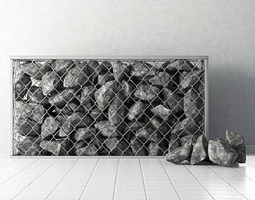Gabion of rock stones 3D