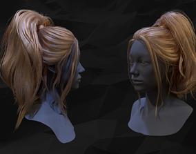 3D asset Ponytail