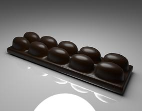 Dark Chocolate Bar 5 3D