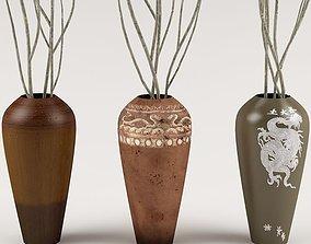3D statues Decorative vase 03