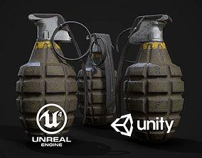 3D asset MK2 Hand Grenade