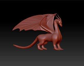 Dragon figure sculpture 3D printable model
