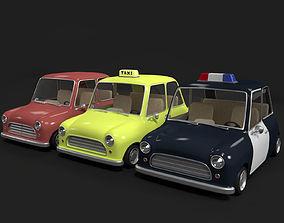 Cartoon police Car - taxi 3D
