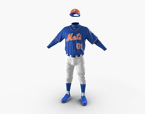Baseball Player Outfit Mets 2 3D
