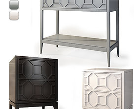 3D model Console nightstand Austin by Dantone Home