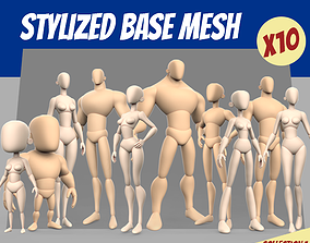 Stylized Basemesh Collection 3D