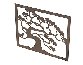 Tree wall decoration 3D print model