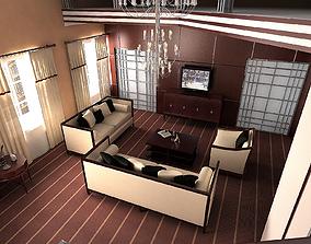 Artdeco Liveroom 3D model