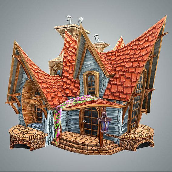Stylized Strange House