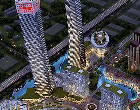 3D building Skyscraper Business Center