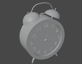 Classic Alarm Clock 3D asset low-poly