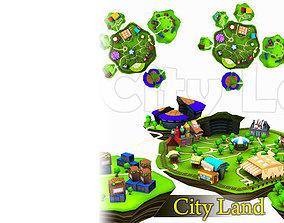 3D model City Land Pack