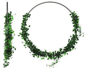 Green grass wreath 3D model
