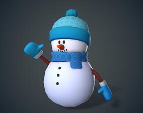 Cute Snowman 3D asset
