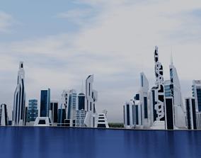 3D model Sci Fi City