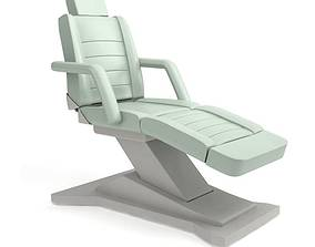 White Modern Beauty Parlor Chair 3D