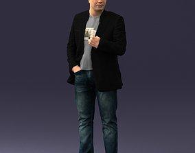 Man in jacket 0020 3D model