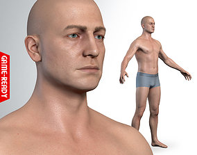 3D model Average Caucasian Male Body