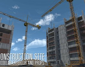 3D model Construction site - modular exterior and props