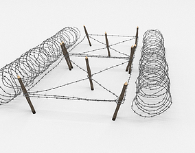 blender 3D Barb Wire Obstacle