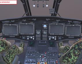 3D model UH-60 Blackhawk Helicopter Cockpit