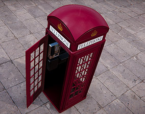 3D asset BT Classic Red Phone Booth