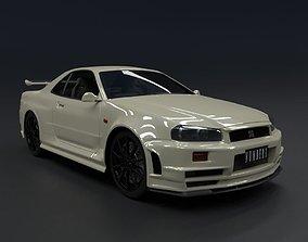 3D model Nissan Skyline GT-R R34 1999