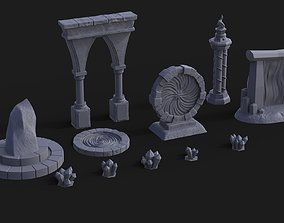 Fantasy Props Pack - Wargaming - 11 pieces 3D print model