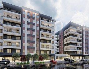 sketchup Modern Residential Building 3D model
