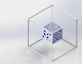3D greeble textured cube