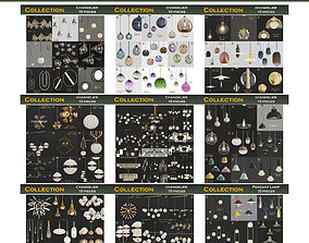 chandelier Chandeliers 3d models mega pack 100 pieces